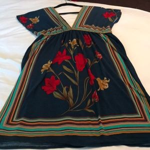 Dresses & Skirts - Lovely , slip over dress . Beautiful roses .